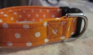 Montana Grrl Critter Gear - Orange Polka Dots Collar