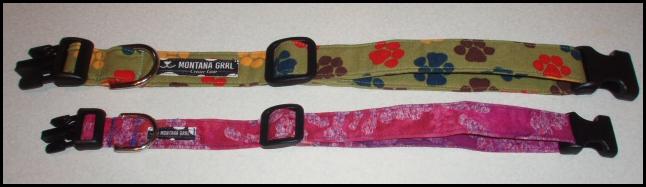 Collars from Montana Grrl Critter Gear