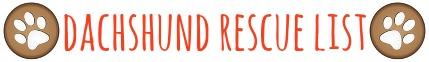 Dachshund Rescue List