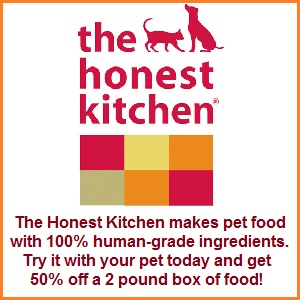 Try Honest Kitchen with 50% off a 2 pound box of food! (Makes 8 lbs)
